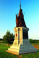 A sculpture honors the soldiers of the Tammany Regiment of New York State at Gettysburg National Battlefield.