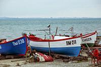 Pomorie, Bulgaria - February 07, 2020: Fishing Boats At The Harbor.