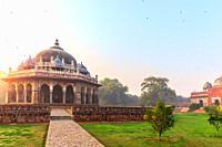 Isa Khan's tomb in the Humayun's Tomb complex, New Delhi, India.