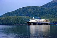 The M/V Kennicott docked at the Sitka Terminal. Sitka, Alaska, USA. Photography by Jeffrey Wickett, The Alaska Marine Highway System operates along th...