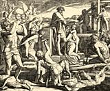 Genesis. On his pilgrimage Kain arrived at the land of Nod where he built the first city he called Enoch, by the name of his son. Sacred biblical hist...