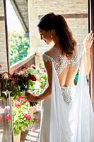Bride, Wedding dress, Event in rural house, Hondarribia, Gipuzkoa, Spain