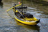Winery´s boat in the Douro River, Porto, Portugal.