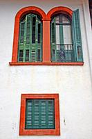 window and balconies, Can Soliguer, architect Raimon Duran i Reynals, Viladrau, Catalonia, Spain