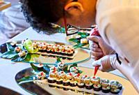 Sushi, Preparation of canapés, Event Celebration, Wedding, Hondarribia, Gipuzkoa, Spain