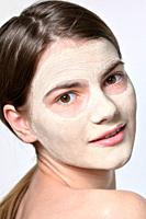 Details of Young Woman With Facial Mask.