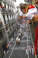 San Fermin festival, Pamplona, Spain July 2019.
