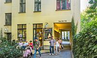 visitors at hackesche hoefe, berlin, germany.