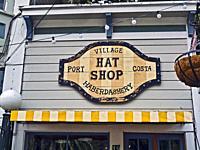 Hat Shop. Port Costa, California.