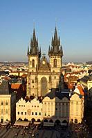 Prague (Czech Republic). Church of Týn. (Chrám Matky Boží pŠ. ed Týnem) in Old Town Square (StaromÄ›stské námÄ›stí) of the city of Prague.