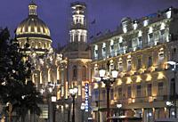Cuba, Havana, Capitolio Nacional, Gran Teatro, Hotel Inglaterra,.