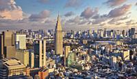 Japan ,Tokyo NTT Docomo tower and central Tokyo.