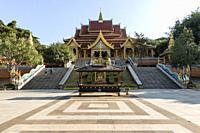 Jinghong, China - January 2, 2020: Mengle Temple in Jinghong - Xishuangbanna capital in Yunnan.