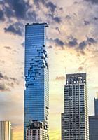 Thailand, Bangkok City, downtown, Sathon area, MahaNakhon Skyscraper, Tallest buiding in Bangkok.