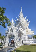 Thailand,, Chiang Rai City, The White Temple (Wat Rong Khun).