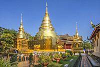 Thailand, Chiang Mai City, Wat Phra Singh Temple.