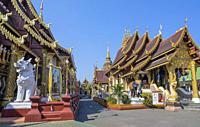 Thailand, Chiang Mai City, Wat Saen Muang.
