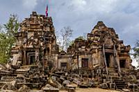 Wat Ek Phnom Temple, Battambang, Cambodia.