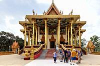 Tourists Visiting Wat Ek Phnom Temple, Battambang, Cambodia.