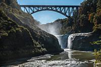 Waterfall on Genesee River in Letchworth State Park, NY.