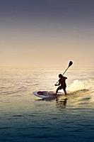 Paddleboarding on a beach near Puerto Vallarta, Mexico.