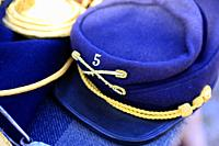 US Army 1880s era Blue kepi worn by other ranks in the US 5th Cavalry on display at a museum event in Tucson AZ.