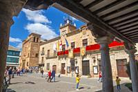 Plaza Mayor. Almagro, Ciudad Real province, Castilla La Mancha, Spain.
