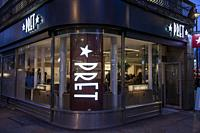 Pret a Manger on St Martins Lane in London UK.