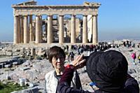 A few Chinese visit Acropolis after the decision of The Hellenic Republic to close its visa centers in Mainland China, thus stop receiving application...