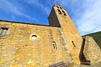 Parish Church of San Miguel, 111-12th Century Romanesque Style, Castiello De Jaca, Jacetania, Huesca, Aragón, Spain, Europe.