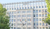 socialist classicism architecture at karl marx allee, berlin, germany.