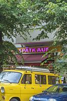 """""""""""spaetkauf"""", late shopping convinience store, friedrichshain, berlin, germany."