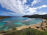 Hanauma Bay, Oahu Island, Hawaii, is world renowned for snorkeling, and deep sea diving.
