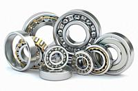 Bearings of different types isolated on white background. 3d illustration.