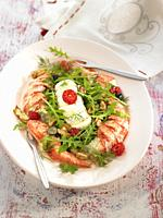 ensalada con bogavante / lobster salad
