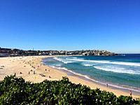 Overview of Bondi Beach near Sydney, New South Wales, Australia.