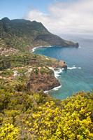 Travel in Madeira coastline