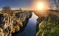 Flosagja fissure, Thingvellir National Park,Iceland.
