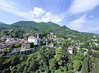 Gardone Riviera view, Lake Garda, Lombardy region of Italy.