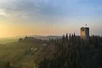 Castle tower, fortress - La Rocca, Solferino, Italy - War Memorial, battle for Second Italian War of Independence, June 24, 1859.