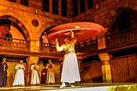 Tanorah Show, Traditional sufi dance, Cairo, Egypt.