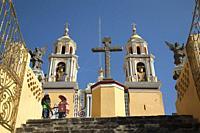 View to the Sanctuary Of Remedios-Santuario De La Virgen De Los Remedios, Cholula, Puebla State, Mexico, Central America