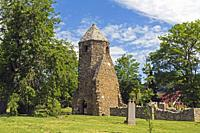 Szigliget, Veszprém County, Hungary. Octagonal tower of the Avasi-Réhely church, which was founded in the 13th century.