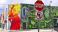 Graffiti. Wynwood Art District. Miami. Florida. USA.