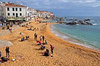 beach, Costa Brava, Calella de Palafrugell, Catalonia, Spain