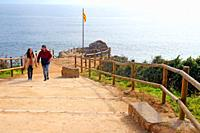 viewpoint, Costa Brava, Calella de Palafrugell, Catalonia, Spain