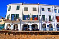 restaurant and apartments, Costa Brava, Calella de Palafrugell, Catalonia, Spain