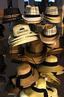 Street shop selling sun hats,Siem Reap,Cambodia,South East Asia.