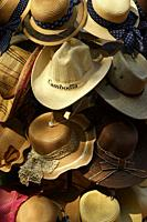 Hats for sale in the market stall,Siem Reap,Cambodia,South East Asia.