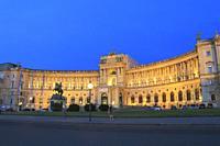 Hofburg Palace at Dusk, Vienna, Austria.